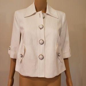 Beautiful Nygard Collection White Blazer